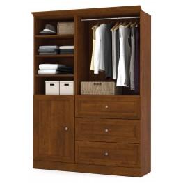 Versatile Tuscany Brown 61'' Storage Wardrobe