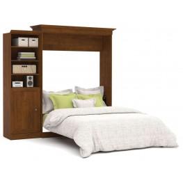 Versatile Tuscany Brown 92'' Door Storage Queen Wall Bed