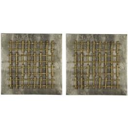 Garrett Aged Gold Wall Art Set of 2