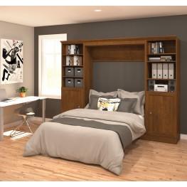 Versatile Chocolate 109'' Door Full Wall Bed