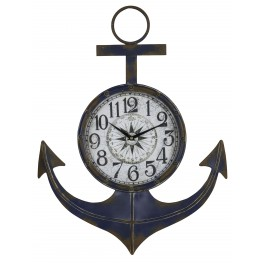 Anchor Distressed Blue Clock