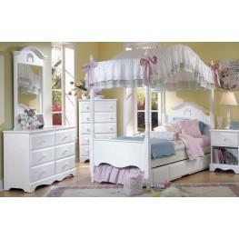Carolina Cottage White Youth Poster Canopy Bedroom Set