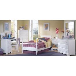 Carolina Cottage White Youth Poster Bedroom Set