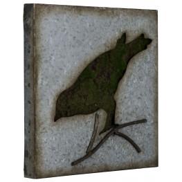 Galvanized Metal Sparrow Wall Art III
