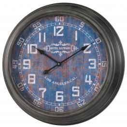 Joella Gray Metal Clock