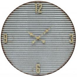 Argus Galvanized Metal Clock