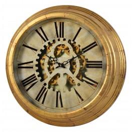 Dabney Gold Gear Clock