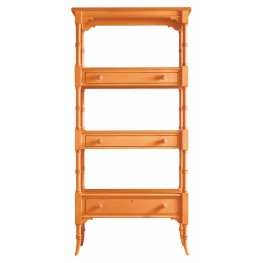 Coastal Living Spanish Orange Etagere