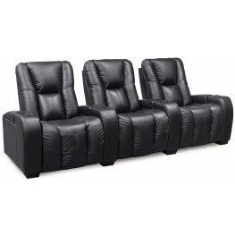 Media Bonded Leather Home Theatre Seating