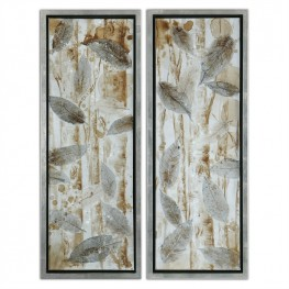 Pressed Leaves Set of 2