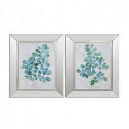 Spring Leaves Framed Art Set of 2