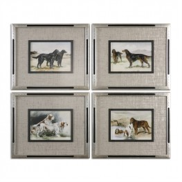 Working Dogs Framed Art Set of 4