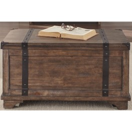 Aspen Skies Russet Brown Storage Trunk