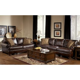 Axiom Walnut Sofa & Chair Living Room Set