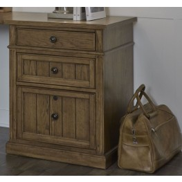 "Cumberland Creek Rustic Oak 24"" 3 Drawer File Cabinet"