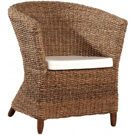Seagrass White Club Chair