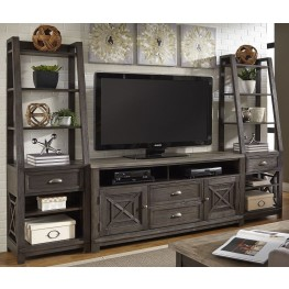 Heatherbrook Charcoal and Ash Entertainment Wall Unit