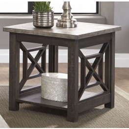 Heatherbrook Charcoal End Table