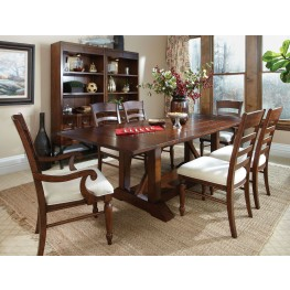 Blue Ridge Trestle Storage Dining Room Set
