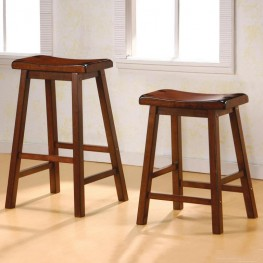 Walnut Barstool Set of 2