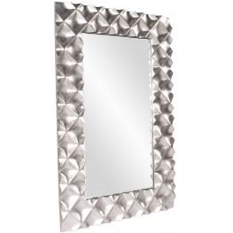 Krystal Modern Silver Mirror