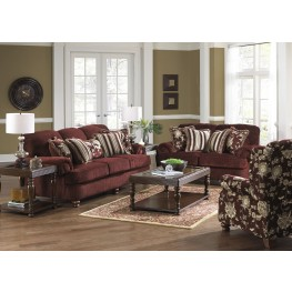 Belmont claret living room set from jackson for 8 piece living room furniture