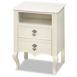 Genevieve French White Nightstand