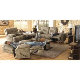 Voyager Brandy Reclining Living Room Set