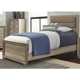 Sun Valley Sandstone Twin Upholstered Panel Bed