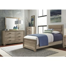 Sun Valley Sandstone Youth Upholstered Panel Bedroom Set