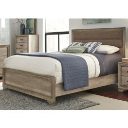 Sun Valley Sandstone King Upholstered Panel Bed