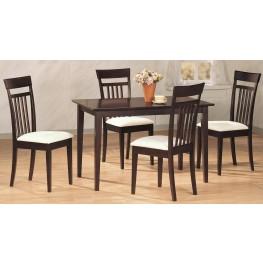 Cappuccino 5 Pcs Rectangular Dining Room Set Chair 4430