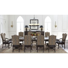 Casa D'Onore Sella Extendable Trestle Dining Room Set