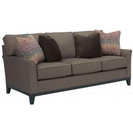 Perspectives Cognac Chenille Fabric Sofa