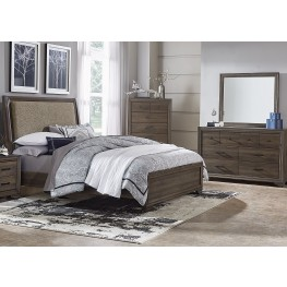 Clarksdale Walnut Upholstered Panel Bedroom Set