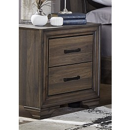 Clarksdale Walnut 2 Drawer Nightstand