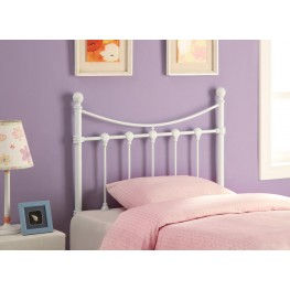 White Twin Headboard 450101T