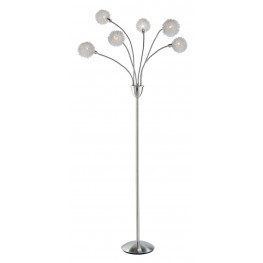 Pom Pom Satin Steel Floor Lamp