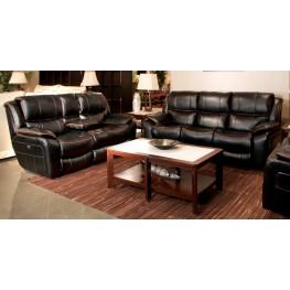 Beckett Black Power Reclining Living Room Set