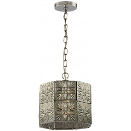 Glass Tile Polished Chrome 1 Light Pendant