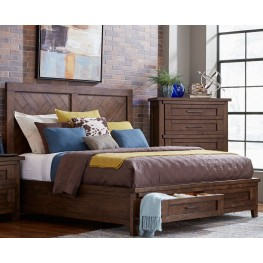 Pieceworks Cal. King Panel Storage Bed