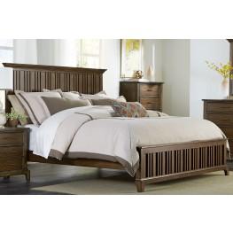 Mill Creek Brown Queen Panel Bed