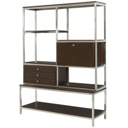 Xpress Sable & Satin Nickel Storage Wall Unit