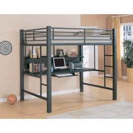 Bunks Workstation Black Full Workstation Loft Bed