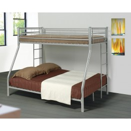 Denley Silver Metal Twin Over Full Bunk Bed 460062
