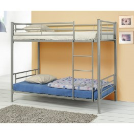 Denley Silver Metal Twin Over Twin Bunk Bed