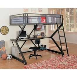 Bunks Workstation Black Workstation Loft Bed