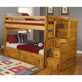 Wrangle Hill Amber Wash Full Over Full Bunk Bed 460096