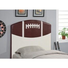White & Brown Twin Headboard 460169