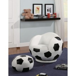 White Small Kids Soccerball Chair 460178